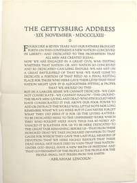 image of The Gettysburg address, XIX November, MDCCCLXIII