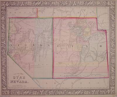 Philadelphia: Mitchell, Samuel Augustus Jr., 1866. unbound. very good(+). Map. Engraving with origin...