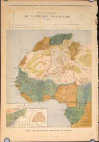 Panorama de L'Afrique Francaise (map of French Africa in complete issue of Le Petit Journal Supplement Illustre).