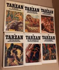image of Tarzan:  # 1 Tarzan of the Apes; # 9 Tarzan and the Golden Lion;  # 10 Tarzan and the Ant Men; # 17 Tarzan and the Lion Man; # 20 Tarzan and the Forbidden City; # 23 Tarzan and the Madman;  -(all six soft covers with cover paintings by Robert Abbett)-