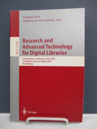 Research and Advanced Technology for Digital Libraries: 7th European Conference, ECDL 2003.