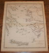 "Map of Ancient Grecian Archipelago - disbound sheet from 1857 ""University Atlas"