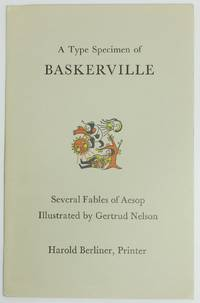 image of A TYPE SPECIMEN OF BASKERVILLE:  Several Fables of Aesop Illustrated by Gertrud Nelson.  [Wrapper title]