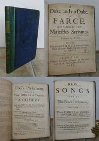 A  DUKE and NO DUKE and  A  FOOL'S PREFERMENT.  Two 17th century plays bound together.