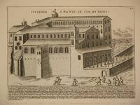 Ecclesia S. Pauli In Via Ostiensi (The Basilica of St. Paul in Via Ostiense [Papal Basilica of Saint Paul Outside the Walls], Rome/Basilica Papale di San Paolo fuori le Mura, Roma): Original Engraving by Domenico De Rossi (after Giacomo Lauro). Plate 27 from Collectio Antiquitatum Urbis : Una Cum Alijs Recentioribus