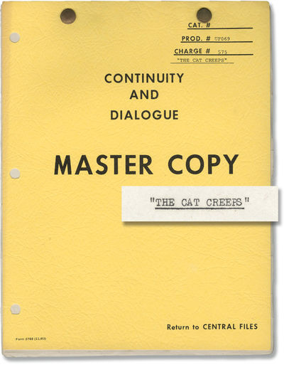 Universal City: Universal Pictures, 1946. Post-production Continuity and Dialogue script for the 194...
