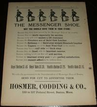 image of Original 1890 Full Page Illustrated Advertisement for the Messenger Shoe  from the Hosmer, Codding & Company