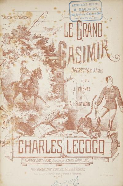 Paris: Brandus et Cie. , 1879. Large octavo. Quarter dark brown calf with green marbled marbled uppe...