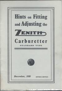 image of Hints on Fitting and Adjusting the Zenith Carburetter Standard Type - December 1930