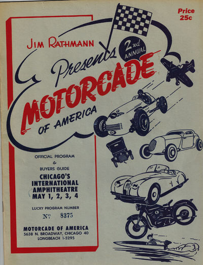 Chicago: Jim Rathmann, 1952. Program stamped