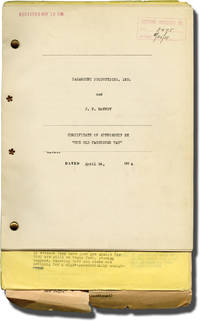 The Old Fashioned Way (Archive including corrected draft screenplay, final screenplay, and signed writer's agreement for the 1934 film)