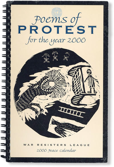 New York: War Resisters League, 1999. First Edition. Octavo. Spiral-bound desk calendar and appointm...