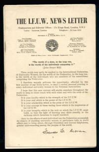 International Federation of University Women News Letter: Nos. 1, 3 & 4 1951/2