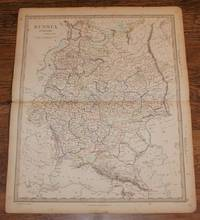 "Map of Russia in Europe (now Finland, Belarus, Ukraine, etc) - disbound sheet from 1857 ""University Atlas"
