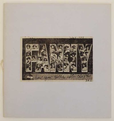: Press of the Visual Studies Workshop, 1975. First edition. Softcover. Artist book printed in an ed...