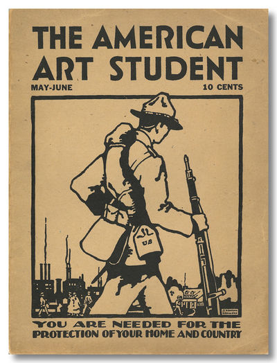 , 1917. Two issues I:9 and II:1. Quarto. Pictorial wrappers, printed on black on khaki colored stock...