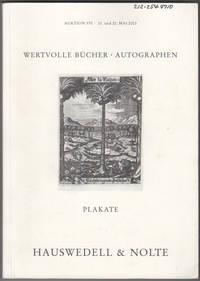 Wertvolle Bucher und Autographen Des 15.-20. Jahrhunderts, Plakate. Auktion 370. 21. und 22. Mai 2003