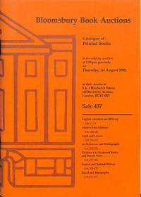Sale 437, the 1st August 2002: English Literature and History, Modern  First Editions, Sport and Leisure, Art Reference and Bibliography,  Children's and Illustrated Books and Private Press, Science and Natural  History, Travel and Topography.
