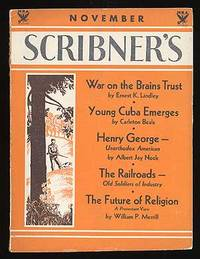 New York: Scribner's, 1933. Softcover. Very Good. Vol. XCIV, no. 5. Very good in wrappers with the s...