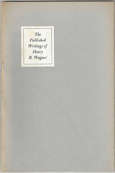 Los Angeles: Ward Ritchie Press, 1955. 30pp. Octavo Gray wrappers with a white paper label on the fr...