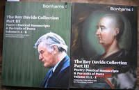 image of The Roy Davids Collection Part III. Poetry: Poetical Manuscripts & Portraits of Poets. Volume I: A-K [&] II: L-Y.