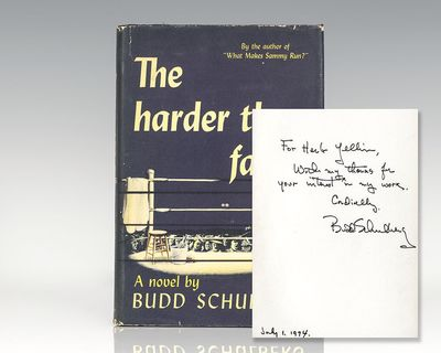 New York: Random House, 1947. First edition of Schulberg's second book, basis for the 1956 film dire...