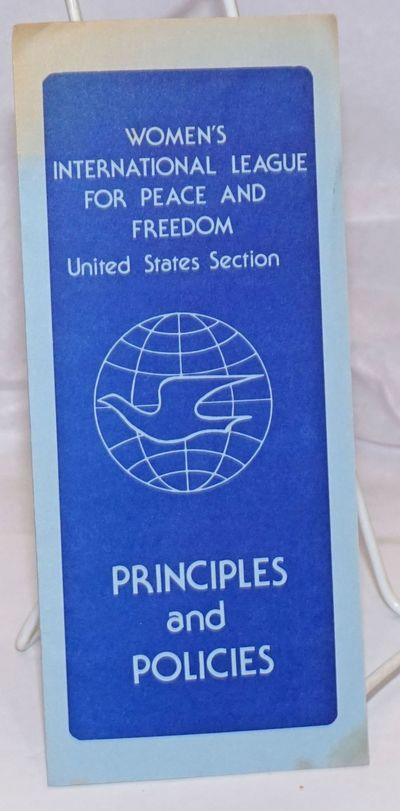 Philadelphia: Women's International League for Peace and Freedom, 1980. Six-panel brochure lightly b...