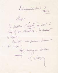 Lettre autographe signée