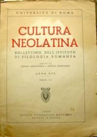 Cultura Neolatina... Anno XIX, Fasc. 1-2, 1959