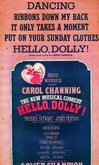 HELLO, DOLLY! (5 Singles) from David Merrick presents Carol Channing: Hello, Dolly!; Put On Your Sunday Clothes; It Only Takes a Moment; Ribbons Down My Back; Dancing.