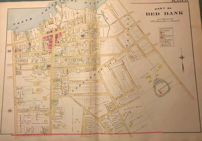 NY: Chester Wolverton, 1889. An original 30-inch by 22-inch linen-backed color map published in 1889...
