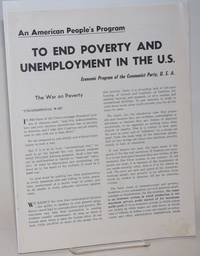image of An American People's Program to End Poverty and Unemployment in the US: Economic Program of the Communist Party, USA