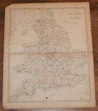 """Map of England and Wales - disbound sheet from 1857 """"University Atlas"""