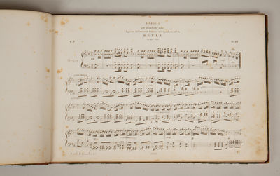 Napoli: Stabilimento Musicale Partenopeo , 1850. Oblong folio. 19th century dark red leather-backed ...