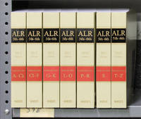 ALR 5th and 6th Tables of Cases. A-Z, 7 books (softbound). 2012 Ed
