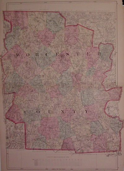 New York: Beers, F.W. & Co, 1871. unbound. very good. Map. Engraving with original hand coloring. Im...