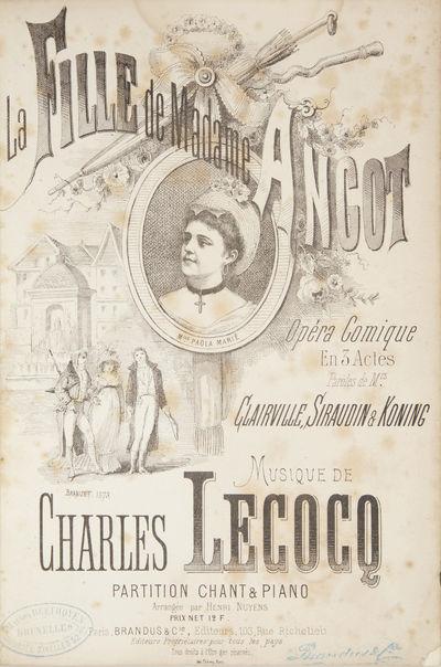 Paris: Brandus & Cie. , 1873. Large octavo. Half dark blue pebbled cloth with marbled boards, titlin...