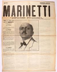 """Marinetti, """"Animatore d'Italianità"""" (1924) (all published)"""