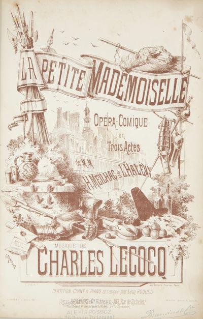 Paris: Brandus et Cie. , 1879. Large octavo. Half dark red leather with dark red pebbled paper board...