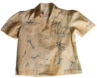 Shirt With Embroidered Signatures of 46 Japanese American Internees