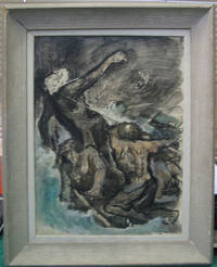 """Original gouache of """"Caught in the Line"""" from Herman Melville's Moby Dick, published by the Limited Editions Club"""