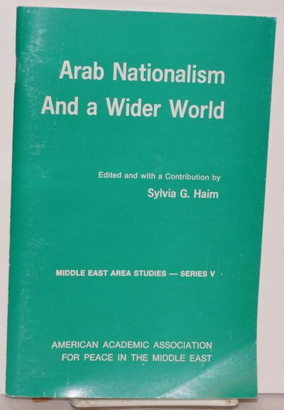New York: American Academic Association for Peace in the Middle East, 1971. 52p., 5.5x8.5 inches, bo...