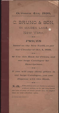 Prices based on the New Tariff, as per our Circular of October 4, 1890 [String Instruments].