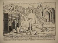 Arcus Constantini Aliaeq Antiquitates Proxmae (Arch of Constantine, Rome/Arco di Costantino, Roma): Original Engraving by Domenico De Rossi (after Giacomo Lauro). Plate 6 from Collectio Antiquitatum Urbis : Una Cum Alijs Recentioribus