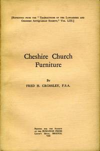 image of Cheshire Church Furniture : Part I