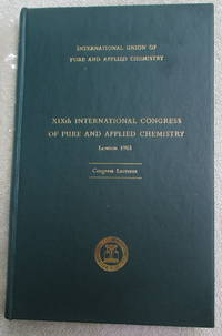 IUPAC - 19th International Congress of Pure and Applied Chemistry - Congress Lectures Presented...