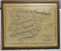 Spain & Portugal.  [Framed Map]