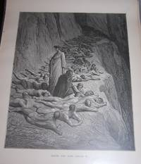 Dante and Pope Adrian V. Original Print. Divine Comedy.