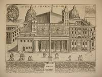 Ecclesia S. Mariae Maioris (The Church of Santa Mary Major, Rome/Basilica di Santa Maria Maggiore, Roma): Original Engraving by Domenico De Rossi (after Giacomo Lauro). Plate 28 from Collectio Antiquitatum Urbis : Una Cum Alijs Recentioribus
