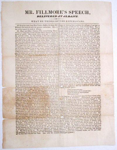 [np, 1856. Broadside, printed in two columns. 9 1/2